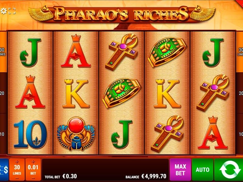 Die Bewertung von Pharaos Riches Slot